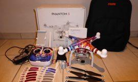 DJI Phantom 3 Advanced mit Rucksack und Carbon Propeller