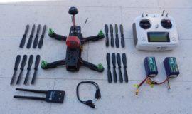 Drohne Eigenbau ZMR250, 1,5 kW Leistung, fpv Kamera, mit Zubehör