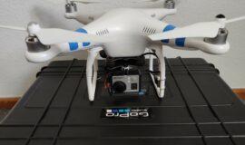 Drohne DJI Phantom 2 inkl Black Pearl 7″ 5,8Ghz Monitor & Koffer